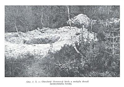 Открытая могила и холмик над пока не открытой могилой.