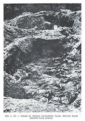 Вид одной из массовых могил.
