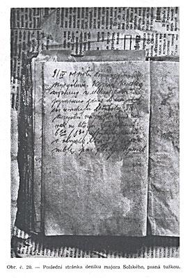 Последняя страница дневника майора Сольского